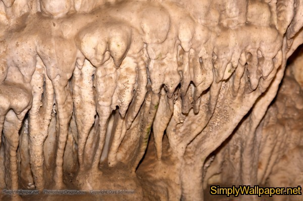 closeup of cave formations