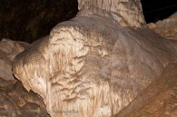 cave formation - large base of a column