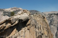 granite rock outcropping and mountains