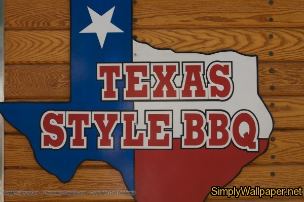sign reading Texas Style BBQ
