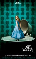Alice from Alice in Wonderland shrunk to a small size