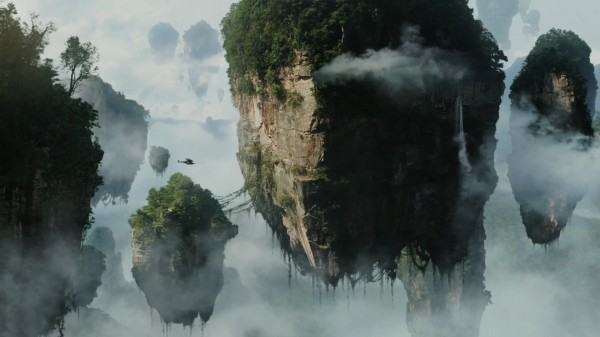 floating islands in the mist on Pandora