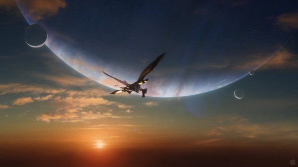 the leonopteryx giant flying creature at sunset