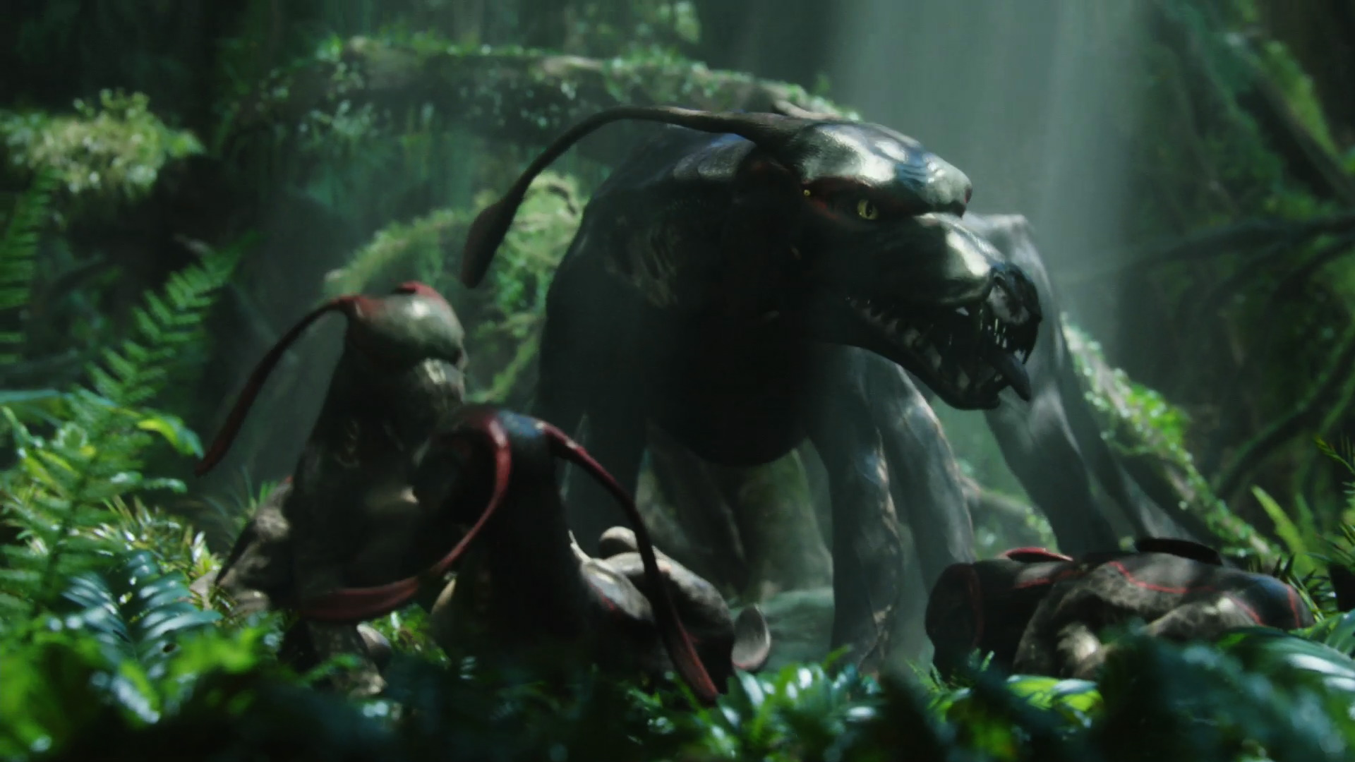 Viperwolf Mother With Pups From Avatar Wallpaper
