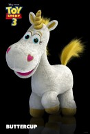 buttercup the plush unicorn toy from toy story