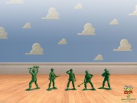 green army men from toy story
