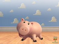 hamm the pink piggybank from toy story