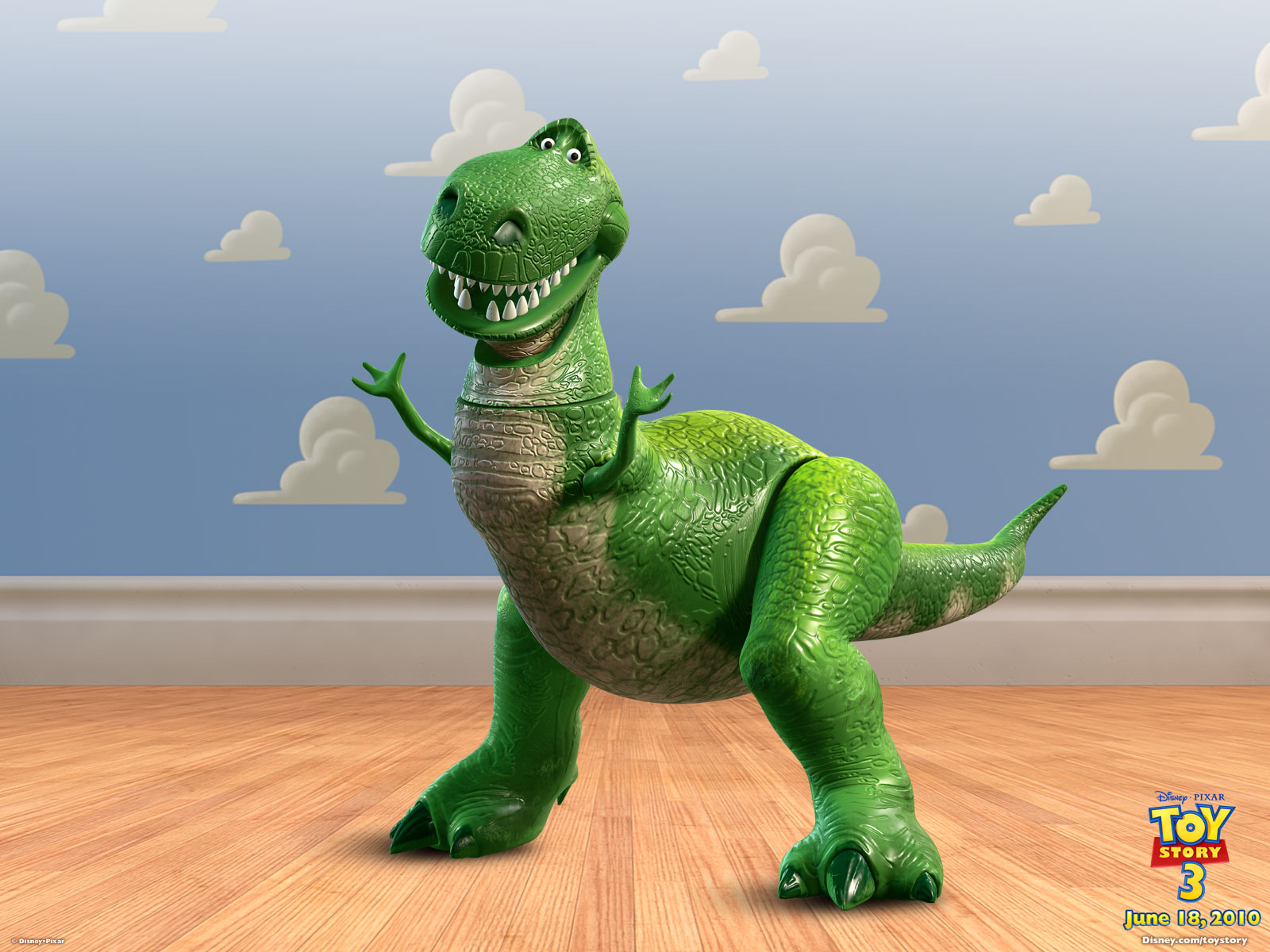 Toy Story Dinosaur : Rex the dinosaur from toy story desktop wallpaper