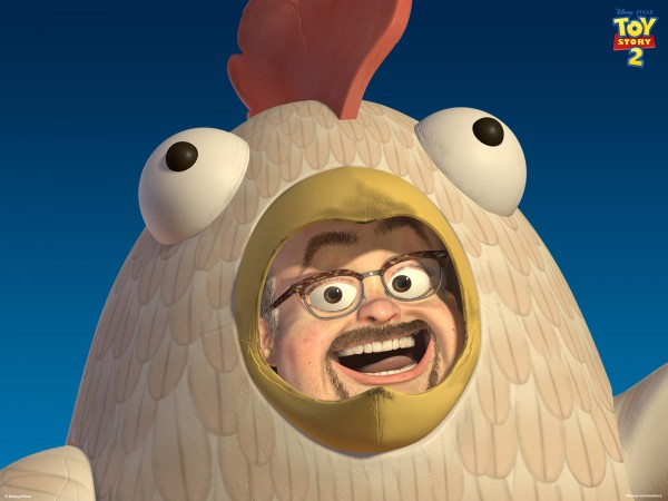 al in a chicken suit from toy story