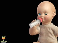 bigbaby the baby doll holding a bottle from toy story 3