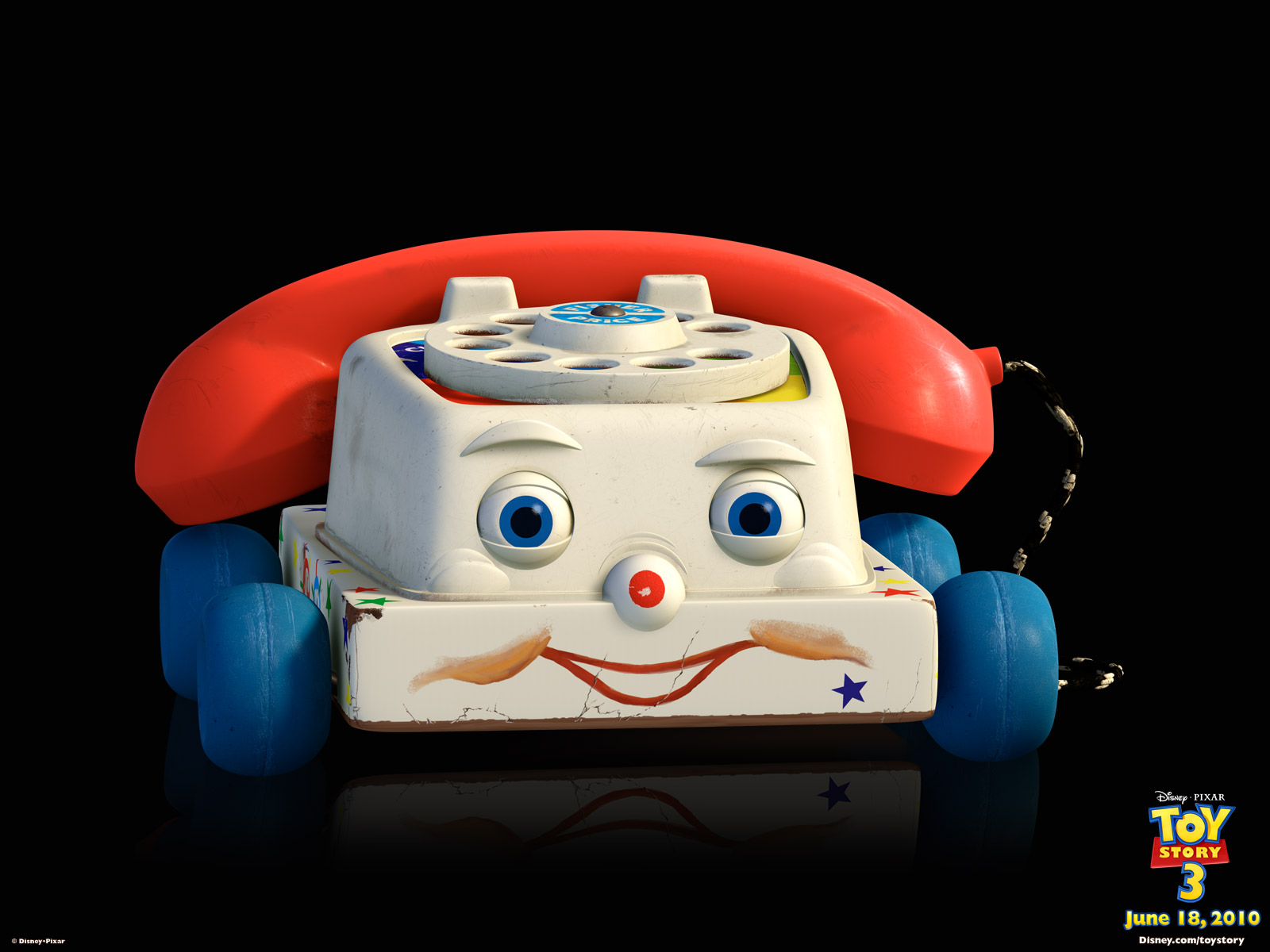 Chatter Telephone Toy From Toy Story 3 Desktop Wallpaper
