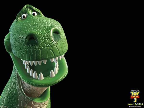 rex the green tyrannosaurus dinosaur from Toy Story