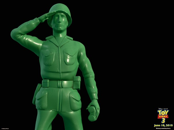 sarge the green army man saluting from toy story