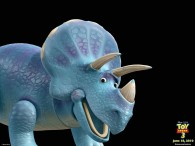 blue triceratops action figure from toy story 3