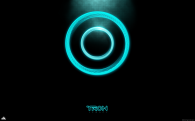 the disc shaped logo for the movie tron legacy
