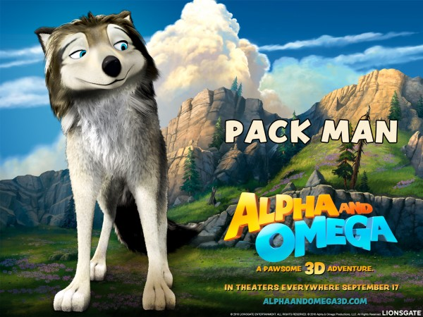 humphrey the white and gray on a scenic landscape from the movie Alpha & Omega