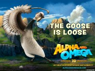 Marcel the goose from the movie Alpha and Omega