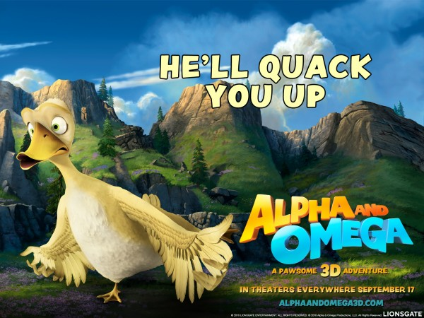 Paddy the yellow duck from the movie Alpha & Omega