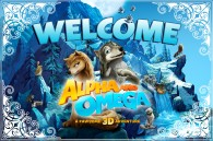 a doormat style image from the movie Alpha and Omega that says Welcome