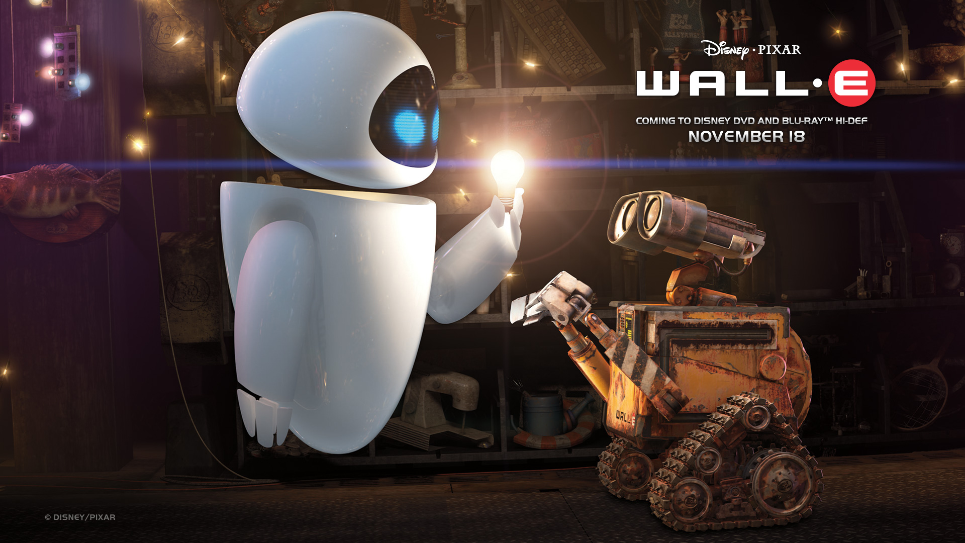 Wall-E and Eve wallpaper - Click picture for high resolution HD wallpaper