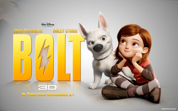 Penny and Bolt from the Disney movie Bolt