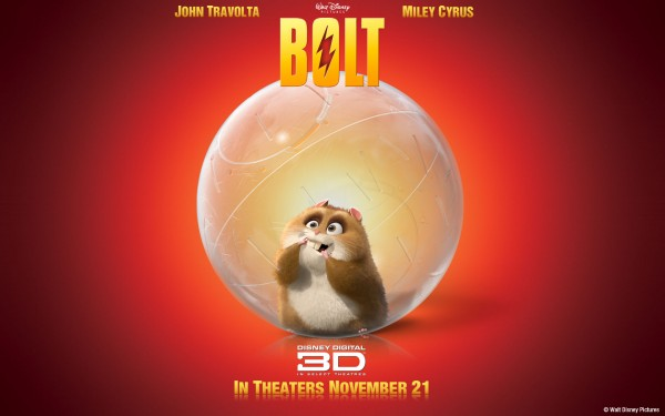 Rhino the hamster in his ball from the Disney movie Bolt