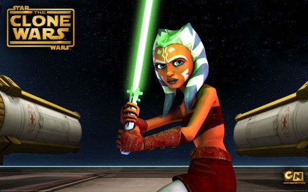 wallpaper picture of jedi ahsoka holding a light saber