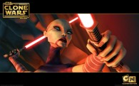 wallpaper image of ventress holding a light saber