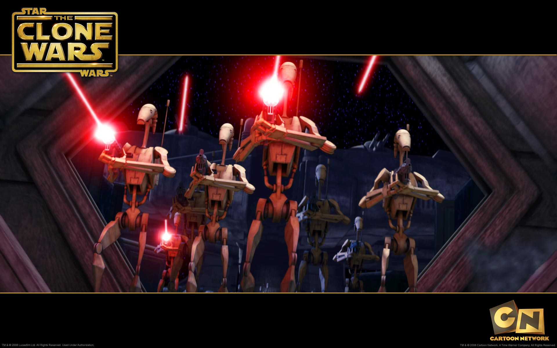 Star Wars Battle Droids Desktop Wallpaper