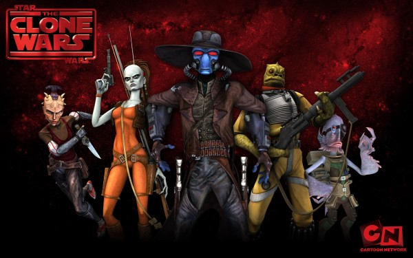 wallpaper image of a group of alien bounty hunters