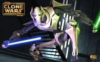 wallpaper picture of general grievous holding a light saber from star wars