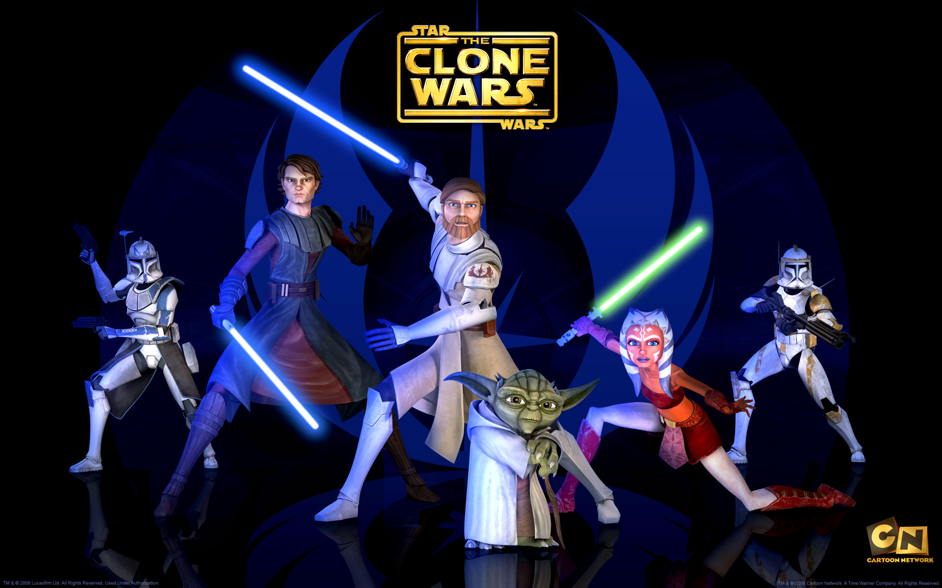 Jedi Masters from The Clone Wars wallpaper - Click picture for high