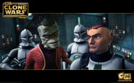 wallpaper photo of nute gunray and a group clones from the clone wars series