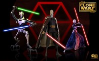 wallpaper picture of the separatists count dooku general grievous and ventress all holding light sabers