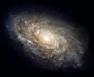 hubble space telescope image of a spiral galaxy
