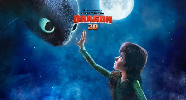 wallpaper of Hiccup reaching out to pet Toothless the Night Fury Dragon
