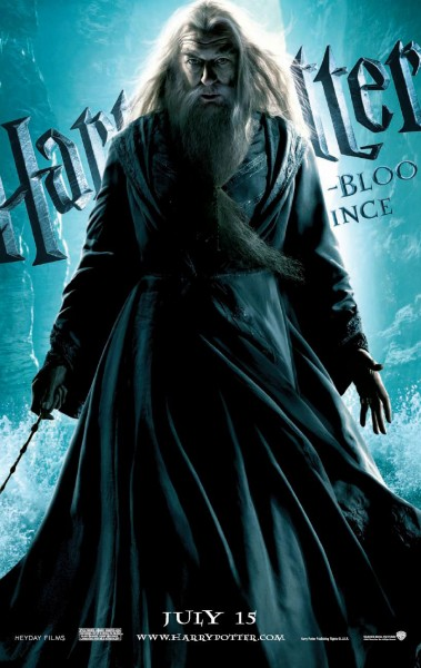 a wizard dressed in rob and wand from Harry Potter and the Half Blood Prince