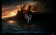 wallpaper picture of hogwarts on fire from harry potter and the deathly hallows