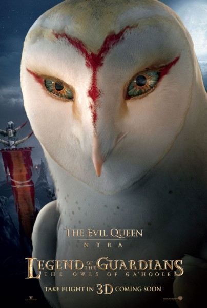 nyra the owl from legend of the guardians the owls of ga hoole wallpaper