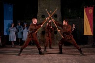 Durmstrang Institute students perform staff routine