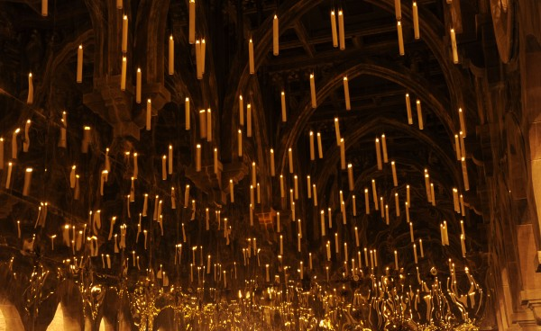 room of requirement where candles float in the air near the ceiling