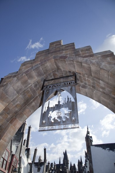 entrance archway to Hogsmeade