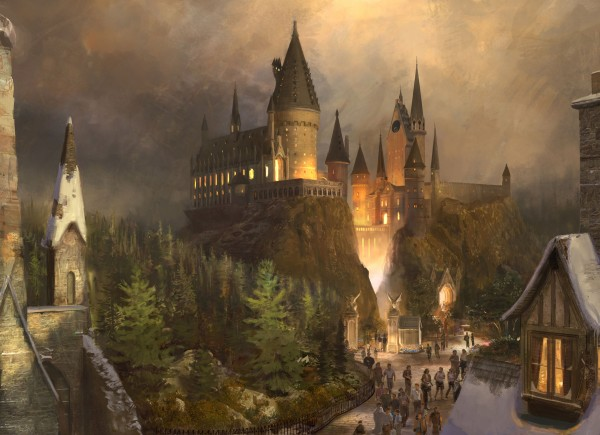 concept art of Hogwarts Castle