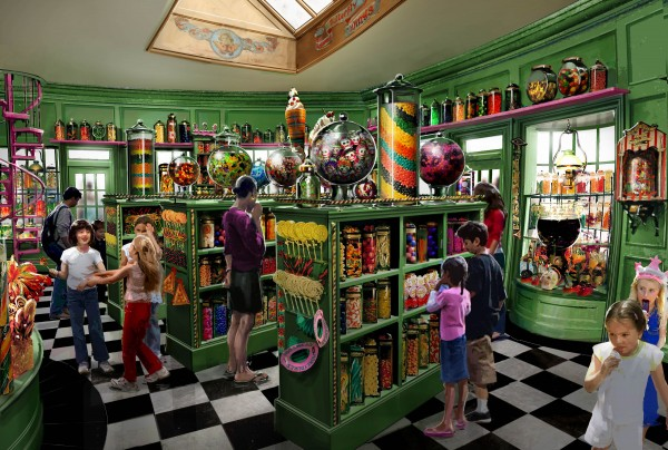 interior of candy shop