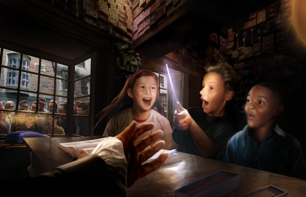 three young wizards and a magic wand