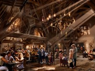 interior of the three broomsticks restaurant