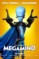 Megamind the blue alien super villain movie poster