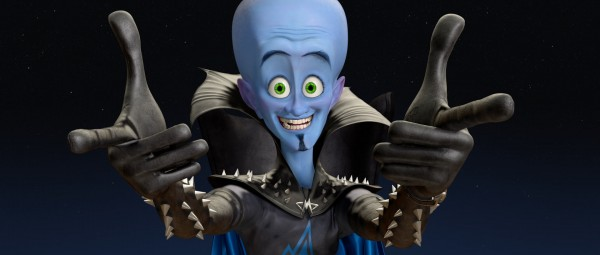 Megamind the blue alien super villain
