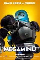 Megamind's pet fish Minion in armor suit