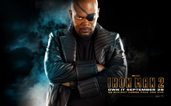 Nick Fury from Iron Man 2 with eye patch wallpaper